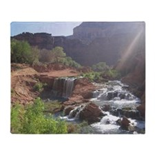 Rock Falls - Havasupai Reservation - Throw Blanket
