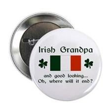 "Gd Lkg Irish Grandpa 2.25"" Button (10 pack)"