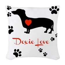 Doxie Love Woven Throw Pillow