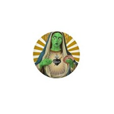 Virgin Mary Gone Zombie Mini Button