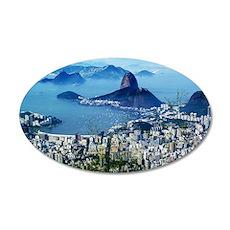 Corcovado - Rio De Janeiro B 35x21 Oval Wall Decal
