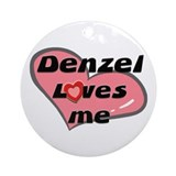 denzel loves me  Ornament (Round)