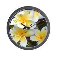 Plumeria Beauty Wall Clock