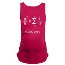 Eulers Formula for Pi Maternity Tank Top