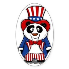 Patriotic Panda Decal