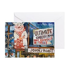 Philadelphia Johns Roast Pork Greeting Card