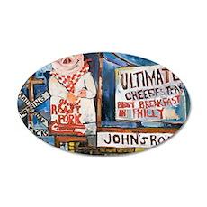 Philadelphia Johns Roast Por 35x21 Oval Wall Decal