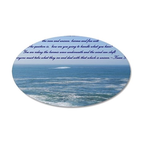 POWER OF THE MOMENT POEM 35x21 Oval Wall Decal