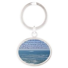 POWER OF THE MOMENT POEM Oval Keychain