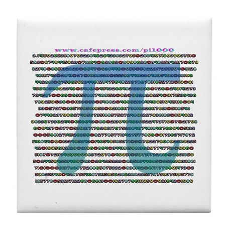 1000 digits of PI - Tile Coaster