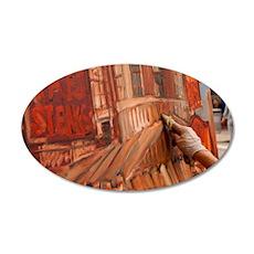 Philadelphia Artist ErinMcGe 35x21 Oval Wall Decal