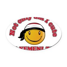 Yemeni Smiley Designs Oval Car Magnet