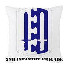 SSI - 2nd Infantry Brigade wit Woven Throw Pillow