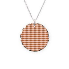Clemson Argyle Sock Pattern  Necklace