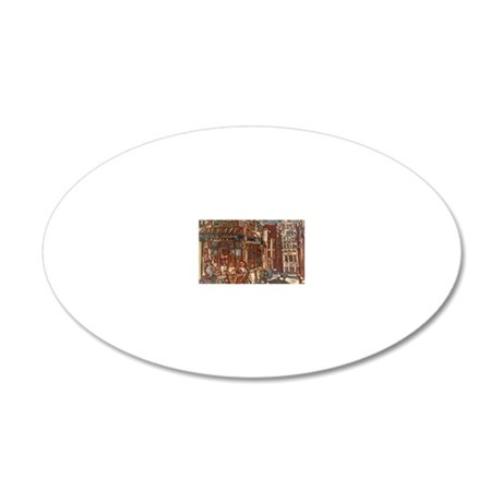 Philadelphia Campos CheeseSt 20x12 Oval Wall Decal