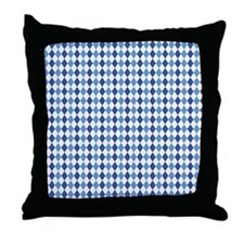 Carolina Blue Argyle Sock Pattern Nor Throw Pillow