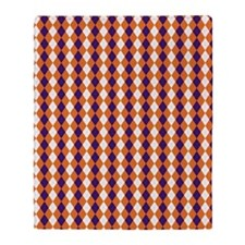 Clemson Argyle Sock Pattern South Ca Throw Blanket