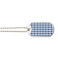 Carolina Blue Argyle Sock Pattern North C Dog Tags