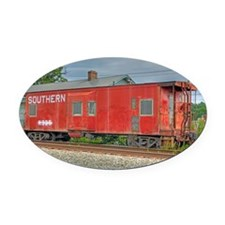 Kernersville Red Caboose Oval Car Magnet