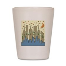 New York City Skyline beachy Shot Glass