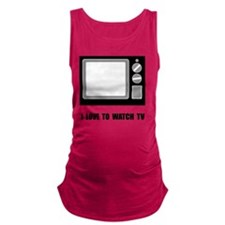 Love To Watch TV Maternity Tank Top