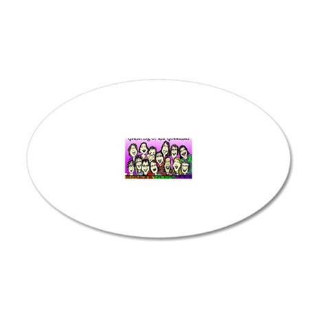 Gathering of the Goddesses 2 20x12 Oval Wall Decal