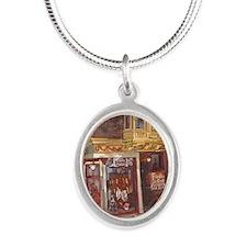 Philadelphia Franklin Fountai Silver Oval Necklace