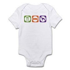 Eat Sleep Terrier Infant Bodysuit