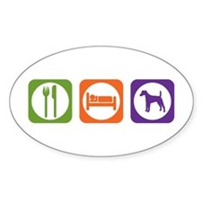 Eat Sleep Terrier Oval Decal