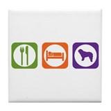 Eat Sleep Water Dog Tile Coaster