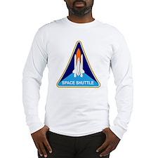 Space Shuttle Shield Long Sleeve T-Shirt