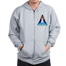 Space Shuttle Shield Zip Hoodie