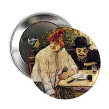 "Toulouse-Lautrec A la Mie in the Rest 2.25"" Button"