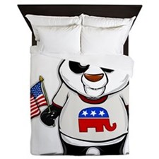 Panda Politics Republican Queen Duvet