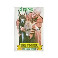 ST. FRANCIS OF ASSISI BLESSES Rectangle Magnet