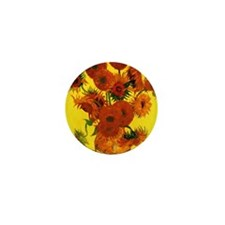 Van Gogh Fifteen Sunflowers Mini Button