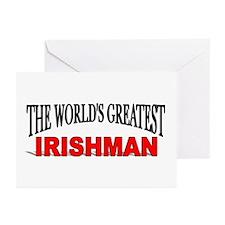 """The World's Greatest Irishman"" Greeting Cards (Pa"