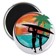 Retro Summer Time Fun Magnet