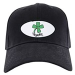 LUCKY 4 LEAF CLOVER Black Cap