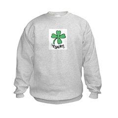 LUCKY 4 LEAF CLOVER Kids Sweatshirt