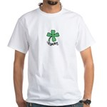 LUCKY 4 LEAF CLOVER White T-Shirt