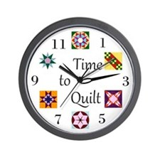 Time to Quilt Clock Wall Clock