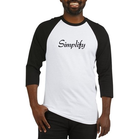 Simplify Baseball Jersey