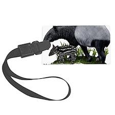 Malayan Tapir and Young Luggage Tag