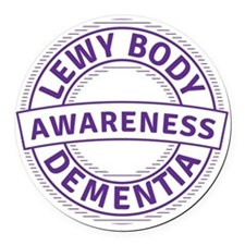 Lewy Body Dementia Awareness Round Car Magnet