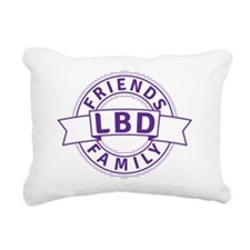 Lewy Body Dementia Aware Rectangular Canvas Pillow
