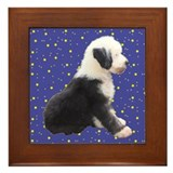 Old English Sheepdog Framed Tile