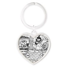 CLAM CHOWDER Heart Keychain