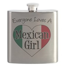 Everyone Loves Mexican Girl Flask
