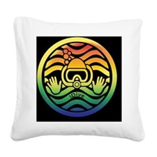 iDive Sea and Sand Square Canvas Pillow